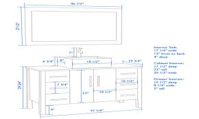 Standard Height Of Bathroom Mirror by Standard Bathroom Vanity Cabinet Sizes Standard Bathroom Drawer Sizes
