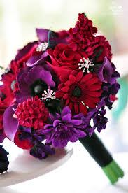 Red Wedding Bouquets 1920s Vintage Glam Inspired Wedding Flowers Dk Designs