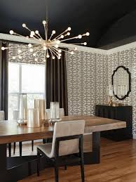 modern dining room chandeliers distressed white dining table black