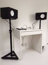 studio monitor desk stands yamaha hs7 powered studio monitors and stands in sutton