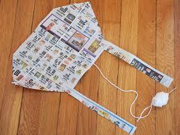 make two crapty kites newspaper kite and plastic bag kite pink