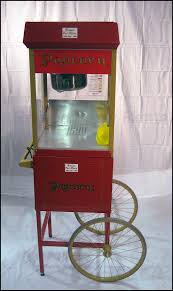 Old Fashioned Popcorn Machine Popcorn Machine With Cart Romeo Party Rental
