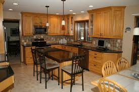 Kitchen With Maple Cabinets Furniture Enchanting Kitchen Island With Under Cabinet Microwave