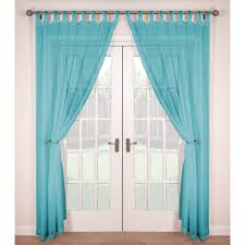top voile panels pair finished in soft teal