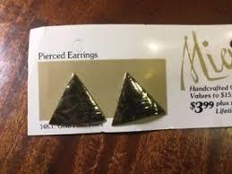 gold plated earrings for sensitive ears vintage gold plated stud earrings for sensitive ears american