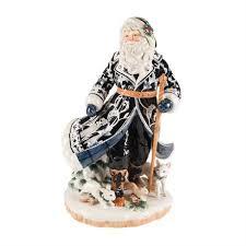 bristol santa figurine blue and white santa fitz and floyd
