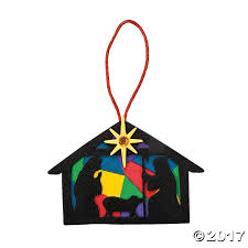 nativity silhouette ornament craft kit