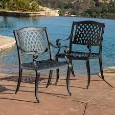 marietta outdoor cast aluminum dining chairs set of patio