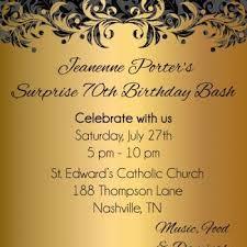 gold ornate birthday party invitations digital file on luulla