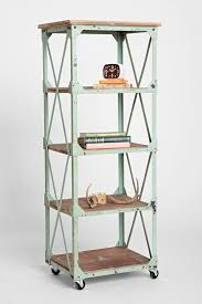 Urban Outfitters Vanity Factory Rolling Bookcase Urban Outfitters Urban And Industrial