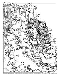 free sample coloring page she believed so she became original