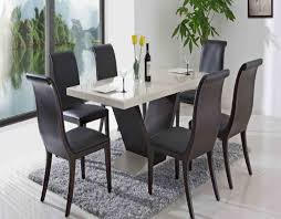 granite dining table set dining room cream leather dining chairs with arms with long wooden
