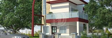 Row Houses Elevation - vrundavan paradise savare badlapur west divyaraj developers