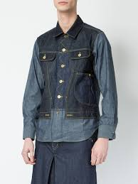 ganryu comme des garcons flap pockets denim shirt 1 indigo men