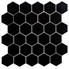 merola tile metro hex 2 in glossy black 10 1 2 in x 11 in x 5