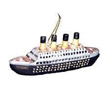 kurt adler 5 inch noble gems glass titanic ornament