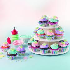 amazon com sweet creations cupcake and cake pop 3 tier display