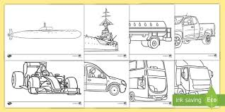 colouring pages transport colouring colours games