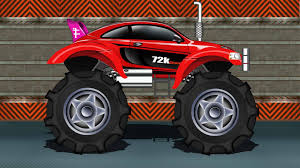 monster trucks videos monster truck sports car monster truck kids car race youtube