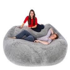faux fur monster bean bag kangaroo long pile bed and