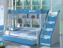 Bunk Beds With Slide And Stairs White Blue Bunk Bed With Stairs And Slides For Camas