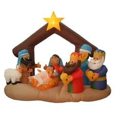 Outdoor Lighted Christmas Wall Decorations by Outdoor Nativity Sets You U0027ll Love
