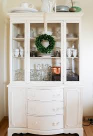 lightly distressed china cabinet hometalk