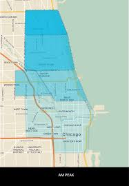 Rush Street Chicago Map by Flex Program Drivewithvia Chicago