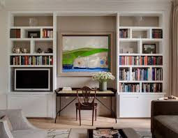 home office with tv wall desk units home office transitional with tv room shelf cube
