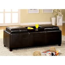 Ottoman With Flip Top Tray Furniture Of America Salford Contemporary Storage Bench With Flip