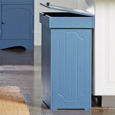 amazon com brylanehome country kitchen trash bin blue 0 home
