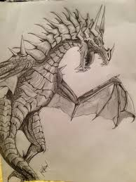 example of a dragon drawn draw pinterest dragons tattoo and