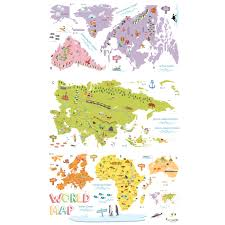 World Map Wall Sticker by The World Map Wall Stickers