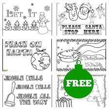 christmas colouring posters kids