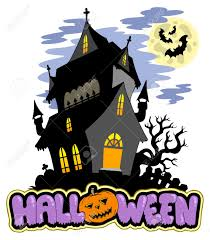 haunted house clipart free halloween sign with haunted mansion royalty free cliparts vectors