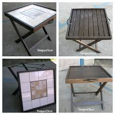 25 Unique Painted Tv Trays by Repurposed Folding Accent Table Serving Tray Luggage Rack