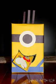 simple fire wife minion valentine box
