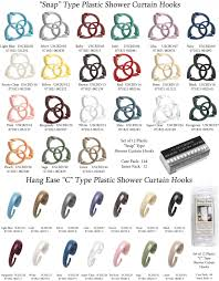Plastic Shower Curtain Hooks Carnation Home Fashions Inc Shower Curtain Hooks
