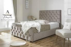 Tv Storage Bed Frame Monoco Fabric Upholstered Bed Frame Storage 4 6 5ft