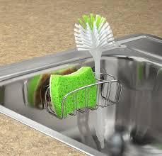 Kitchen Sink Brush Spectrum Diversified Contempo Sponge And Brush Holder