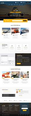 responsive web design layout template unload cargo shipping warehouse transport html5 responsive