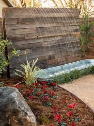 relaxing garden and backyard waterfalls digsdigs with small deck