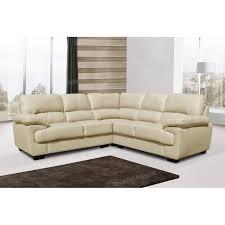 Seat Large Beige  Ivory Cream Leather Corner Sofa - Cream leather sofas