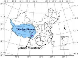 Tibetan Plateau Map Estimation Of Evapotranspiration From Faber Fir Forest Ecosystem