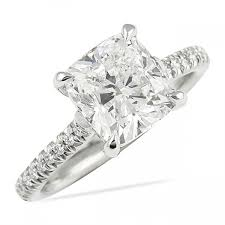 cushion cut engagement ring lepozzi 2 25 ct cushion cut engagement ring