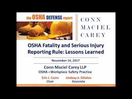 Osha Chair Requirements Osha Fatality And Injury Reporting Rule Lessons Learned Youtube