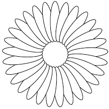 coloring easy flower coloring pages