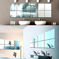 Stick On Bathroom Mirror Glue Large Bathroom Mirror Wall Stick On Frame Adhesive For