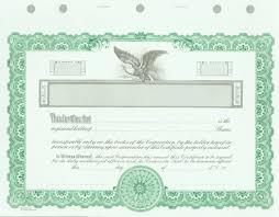 blank certificates corporation goes kg2 green