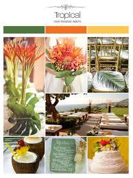 Elegant Colors Elegant Tropical Green Orange Yellow Wedding Inspiration Board